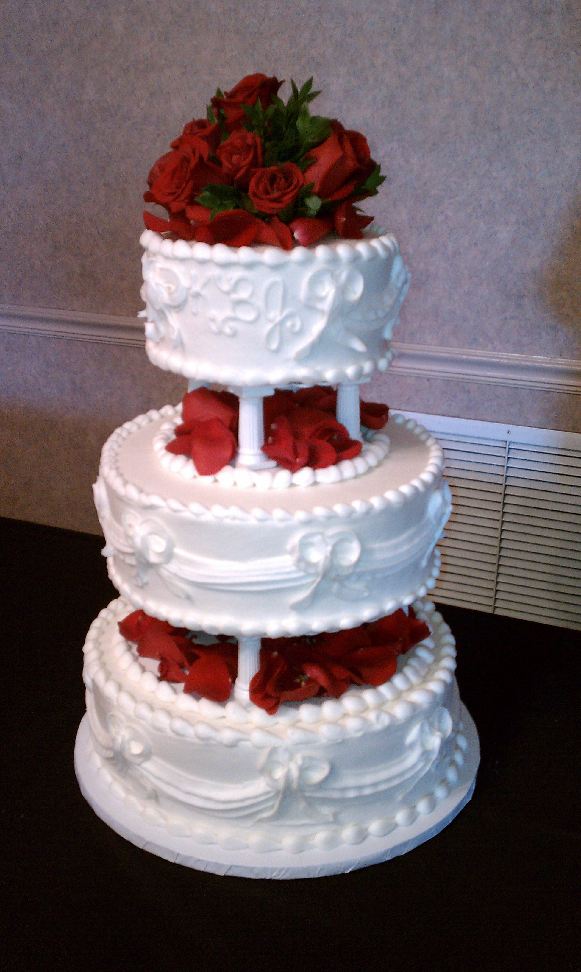 Fresh Fruit Wedding Cake